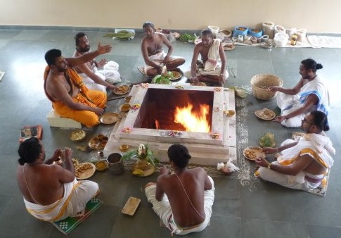Image result for person doing yagya